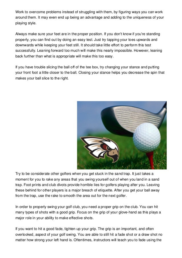 Easy Solid Golf Advice From The Pros