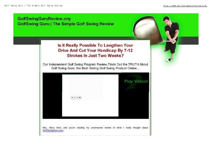 Golf Swing Guru   The Simple Golf Swing Review                                                                          ht...