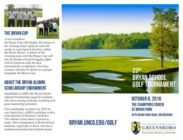 Bryan School Golf Tournament Brochure