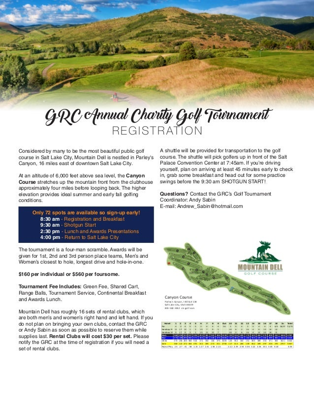 Grc Annual Meeting  Golf Tournament Brochure
