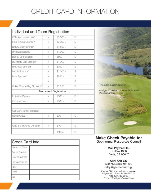 Grc Annual Meeting - Golf Tournament Brochure