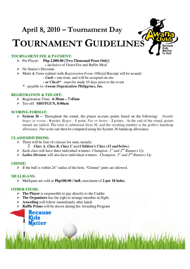 Golf tournament program template golf tournament brochure for Golf tournament program template