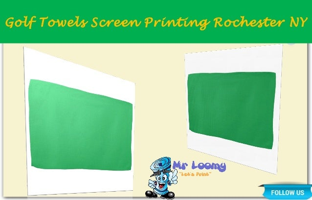 Golf Towels Screen Printing Rochester NY