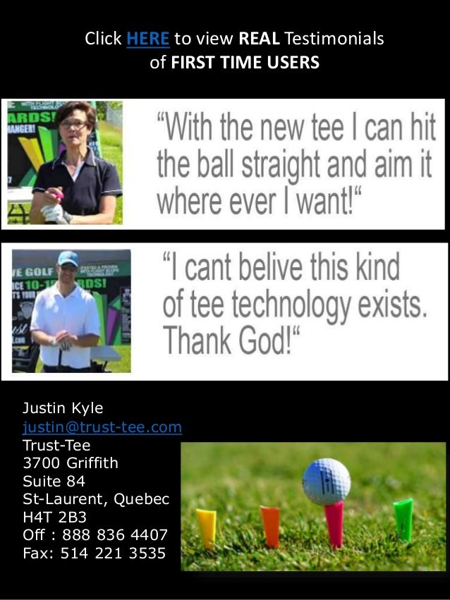 The Golf Trust-Tee  Introduction, Reduce Your HOOK or SLICE by 15 YARDS
