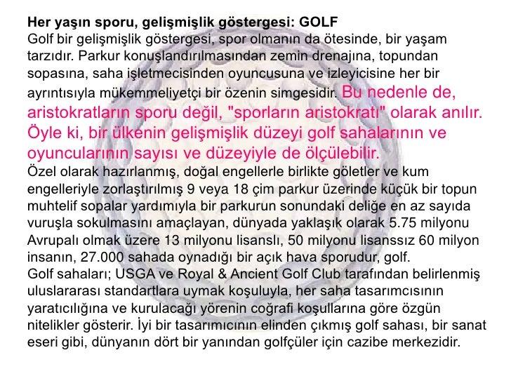 Golf yatırımcıları kılavuzu for 14 04