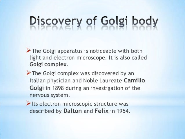 function of golgi apparatus in points