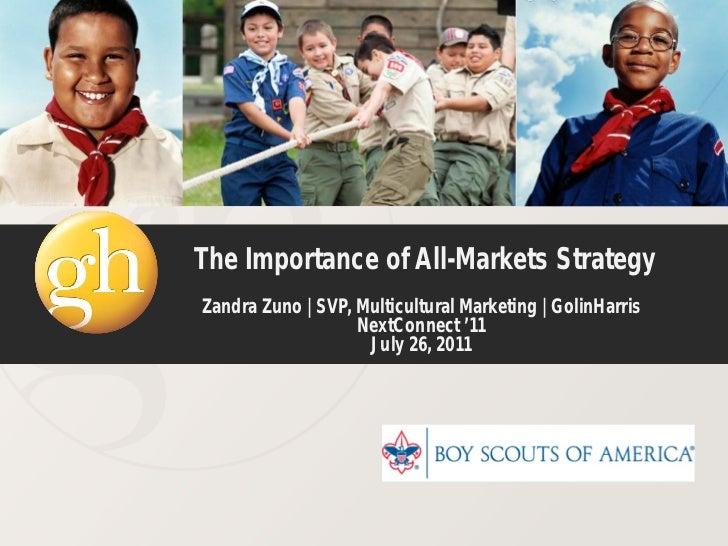 The Importance of All-Markets StrategyZandra Zuno | SVP, Multicultural Marketing | GolinHarris                   NextConne...