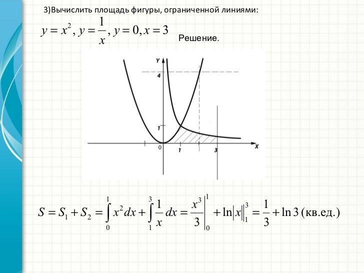 вычеслите площадь фигуры ограниченной линиями y x3 y x-1 y e