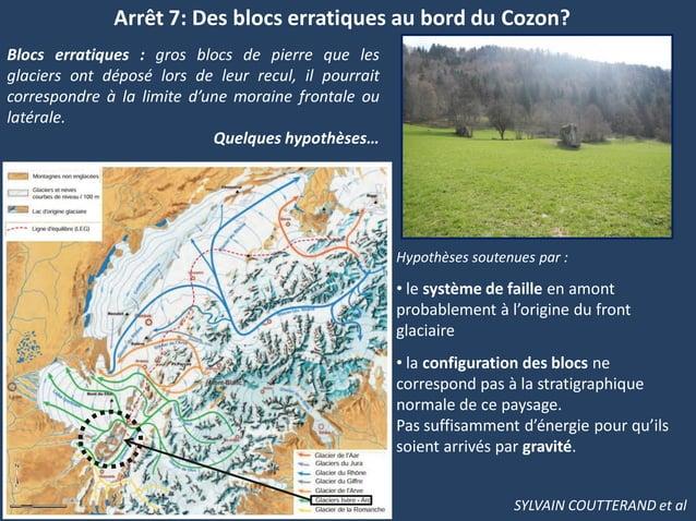 Arrêt 7: Des blocs erratiques au bord du Cozon?Blocs erratiques : gros blocs de pierre que lesglaciers ont déposé lors de ...