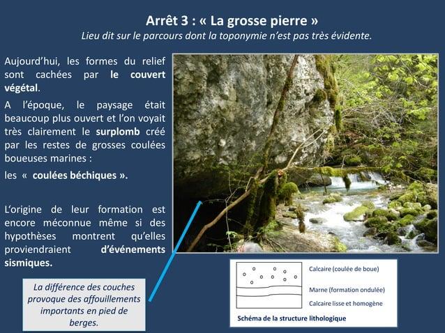 Arrêt 3 : « La grosse pierre »Aujourd'hui, les formes du reliefsont cachées par le couvertvégétal.A l'époque, le paysage é...