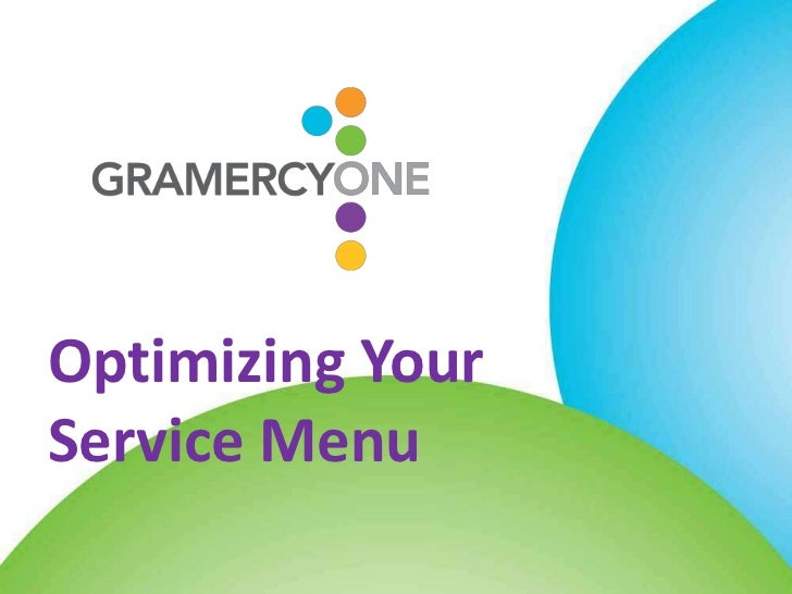 Optimizing YourService Menu