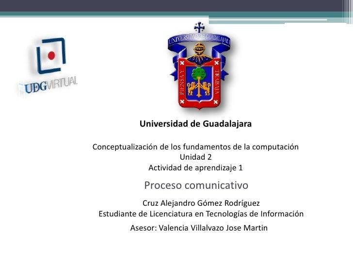Universidad de Guadalajara<br />Conceptualización de los fundamentos de la computación<br />Unidad 2<br />Actividad de apr...