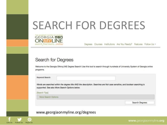 SEARCH FOR DEGREES
