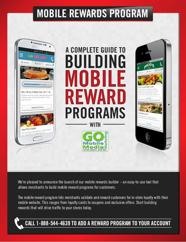 MOBILE REWARDS PROGRAM  WITH  We're pleased to announce the launch of our mobile rewards builder – an easy-to-use tool tha...