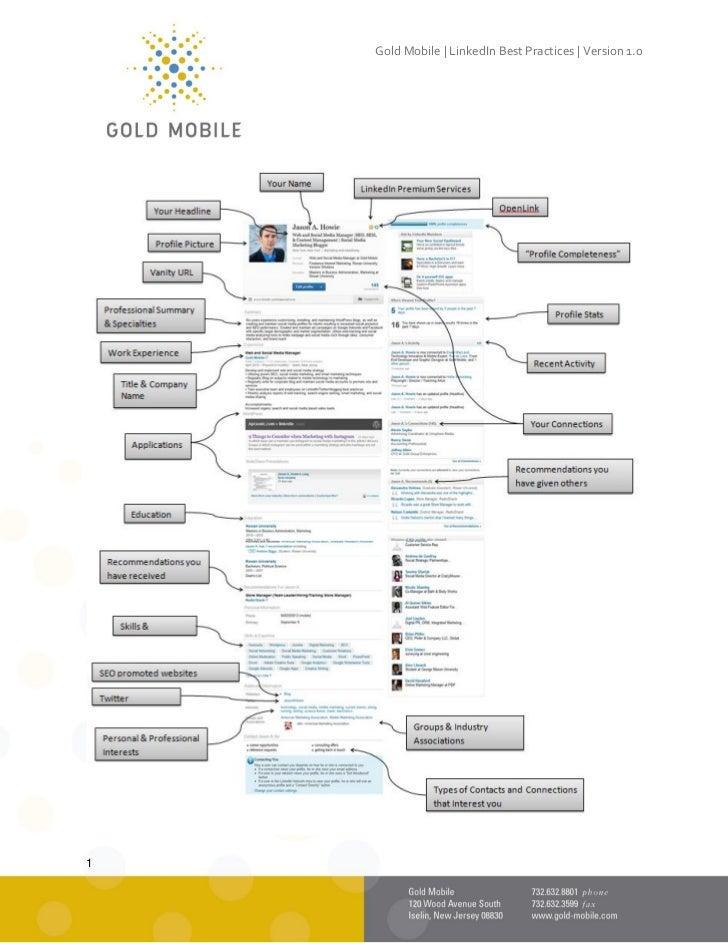 Gold Mobile | LinkedIn Best Practices | Version 1.01