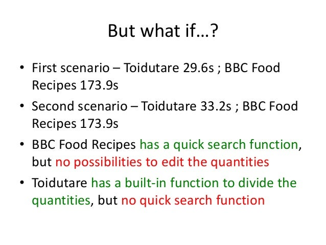 Goms analysis of toidutare bbc food recipes the results 5 forumfinder Image collections