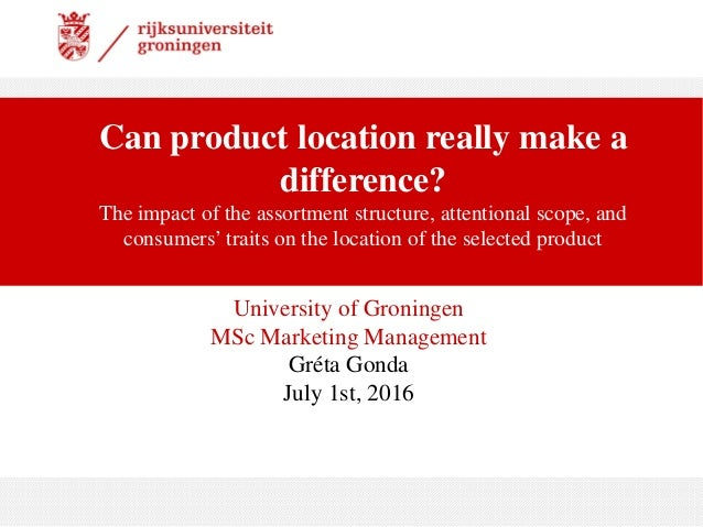 Can product location really make a difference? The impact of the assortment structure, attentional scope, and consumers' t...