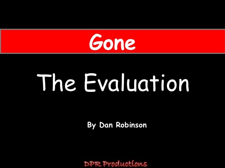 Gone evaluation powerpoint