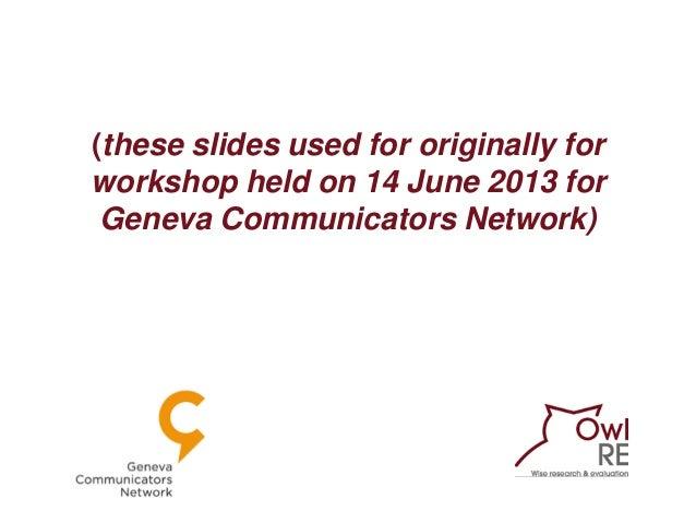 Surveys for communicators Slide 2