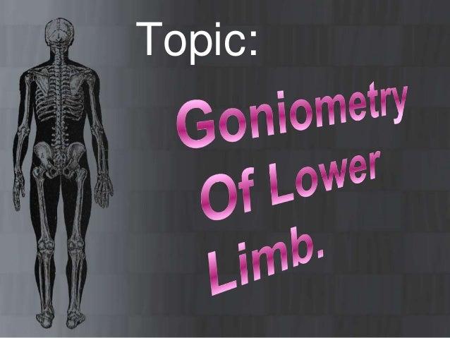 Goneometry of lower limbb Slide 3