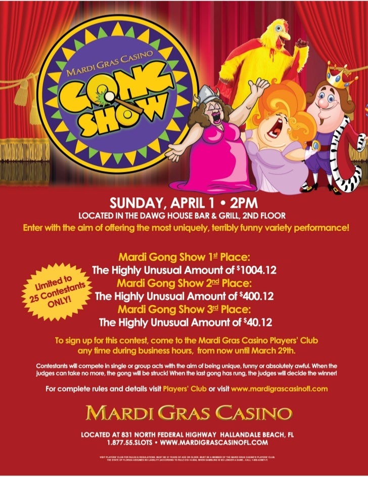 Hollywood FL Casino Hosting One of a Kind Gong Show