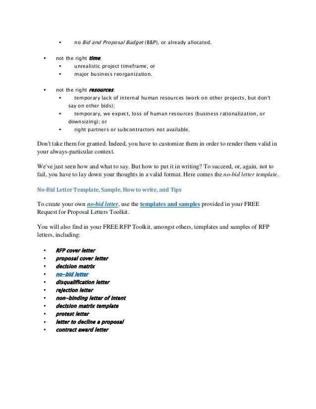 sample rfp cover letter