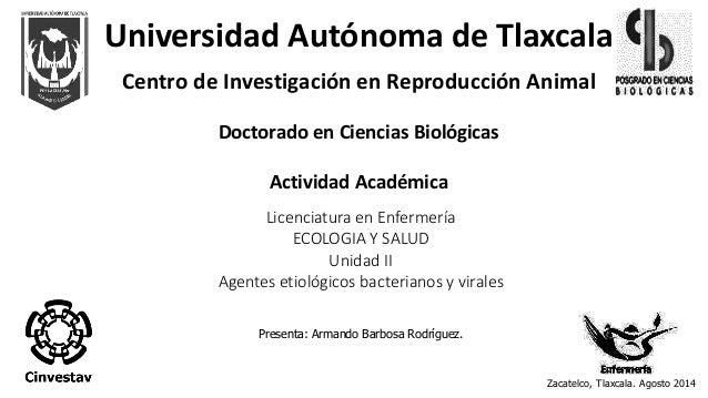 Universidad Autónoma de Tlaxcala  Centro de Investigación en Reproducción Animal  Doctorado en Ciencias Biológicas  Activi...
