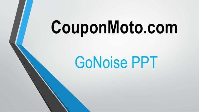 go noise coupon