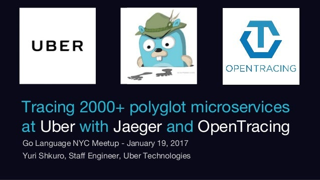 Confidential. Internal use only Tracing 2000+ polyglot microservices at Uber with Jaeger and OpenTracing Go Language NYC M...