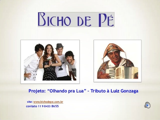 "Projeto: ""Olhando pra Lua"" – Tributo à Luiz Gonzagasite: www.bichodepe.com.brcontato 11 9 8433 8655"