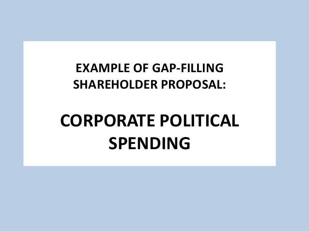 shareholder proposal example