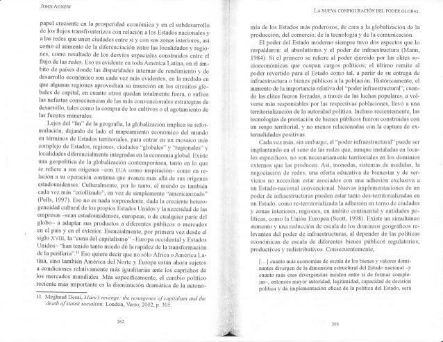 JOHN ACNEW papel creciente en la prosperidad econ�mica y en el subdesarrollo de los flujos transfiouterizos con relaci�n a...
