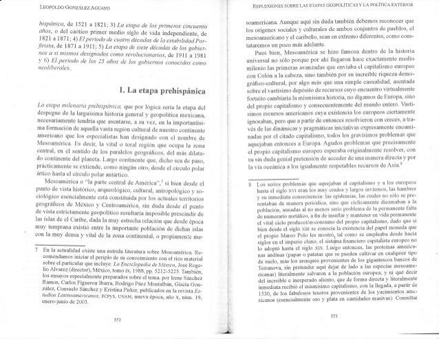 Lsopor-oo GoxzÁrezAcueyo hispánica, de r5zr a ll2r;3) La etapa cle los primeros cincuenta año's, o del caótico primer medi...