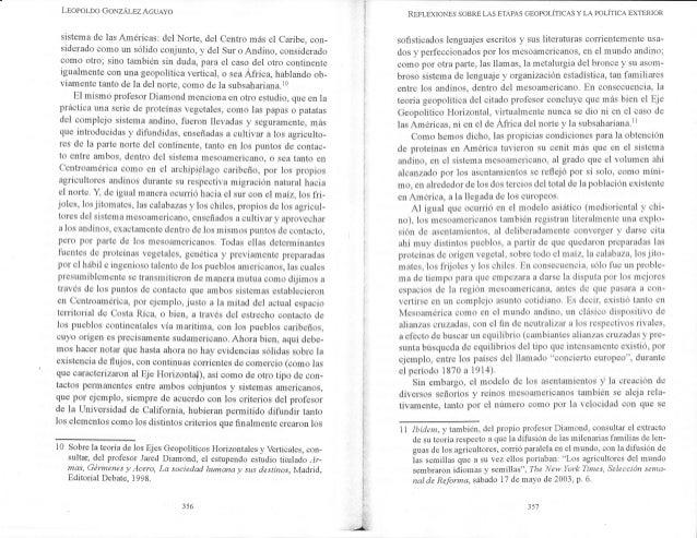 LEoPoLDo GoNzÁI-BZ AGUAYO sistema de las Américas: del Norte, del Centro más el Caribe, con- siderado como un sólido conju...