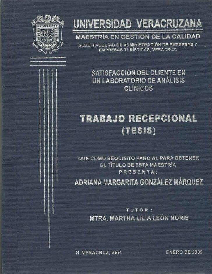 Gonzalez marquez adriana satisfaccion del cliente en un laboratorio de analisis clinicos