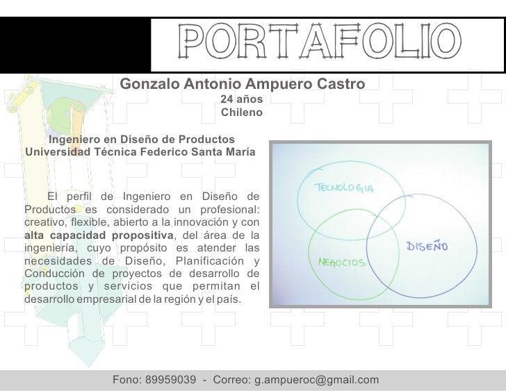Portafolio                   Gonzalo Antonio Ampuero Castro                                        24 años                ...