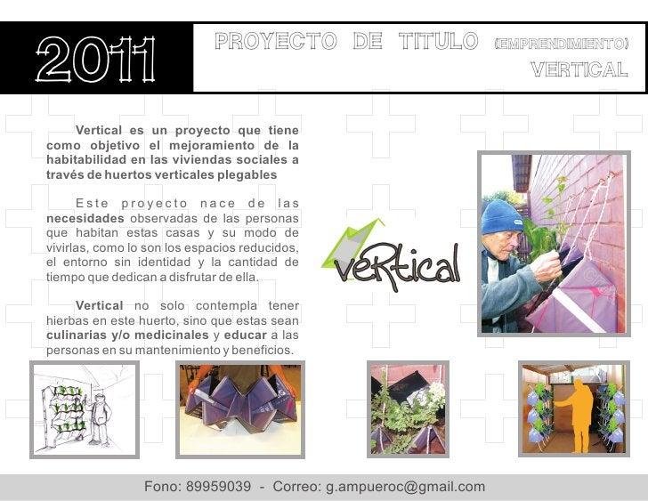 Proyecto de titulo2011                                                                 (emprendimiento)                   ...