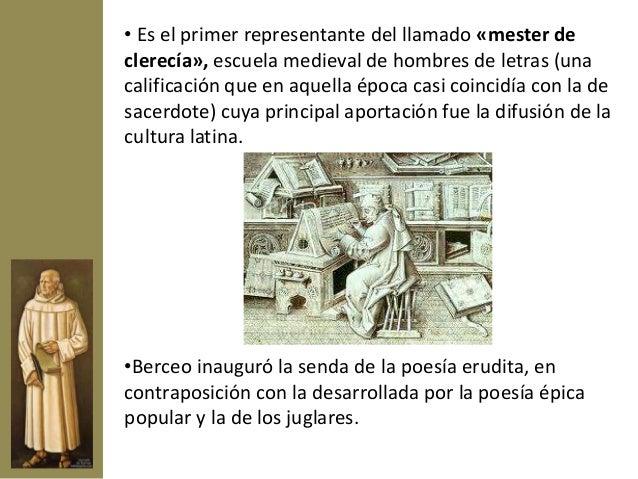Obras          Sus obras,         escritas en       cuaderna vía (estrofa de cuatroversos alejandrinosmonorrimos) como  er...