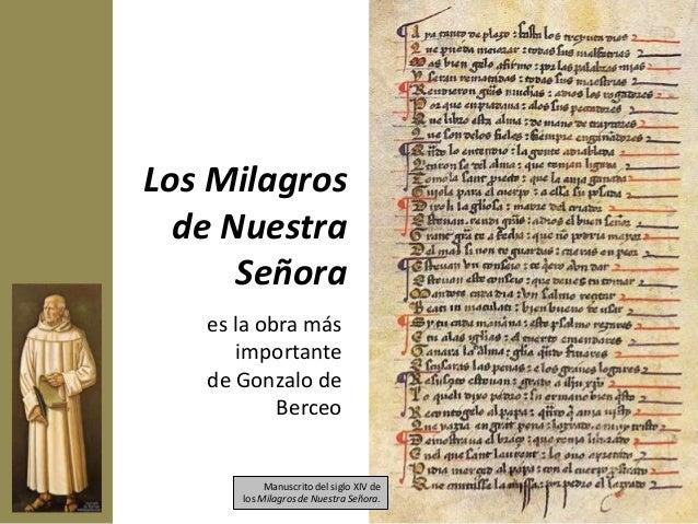 Se trata de una compilación de exempla que relatan veinticinco milagros de la Virgen María, escritos hacia1260 en un diale...