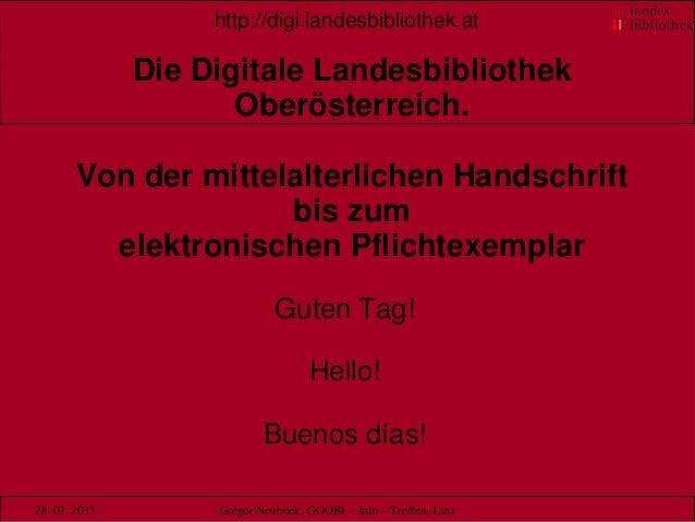 http://digi.landesbibliothek.at               Die Digitale Landesbibliothek                      Oberösterreich.        Vo...