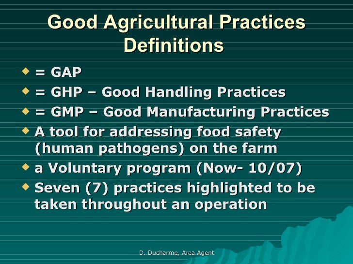 good agricultural practices gaps benefits Keywords: good agricultural practice mango orchid thailand  the  advantage of comparing orchids and mangoes is that they are rather.