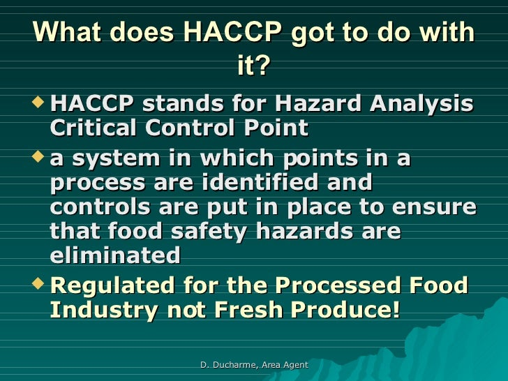 what does haccp mean in food. Black Bedroom Furniture Sets. Home Design Ideas
