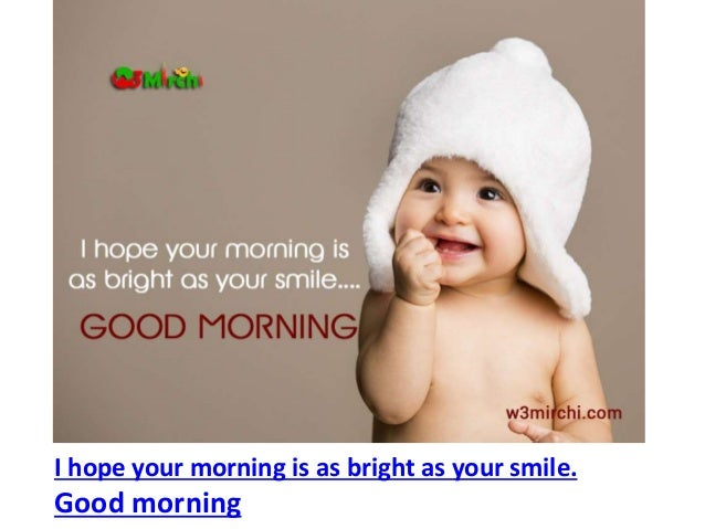 Cute Good Morning Baby Images And Quotes