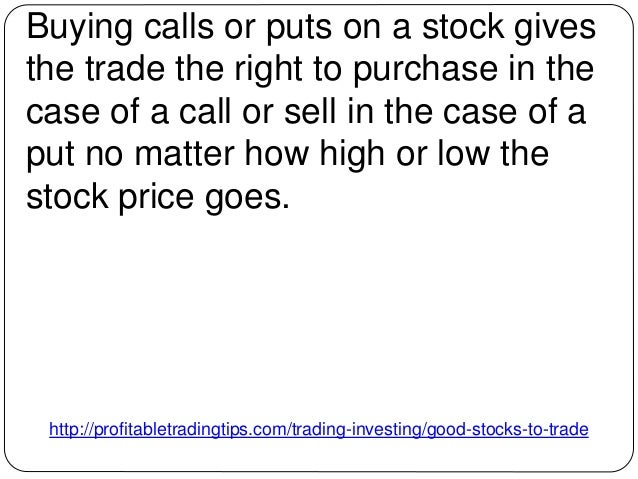 How to trade stock options profiting in up and down markets