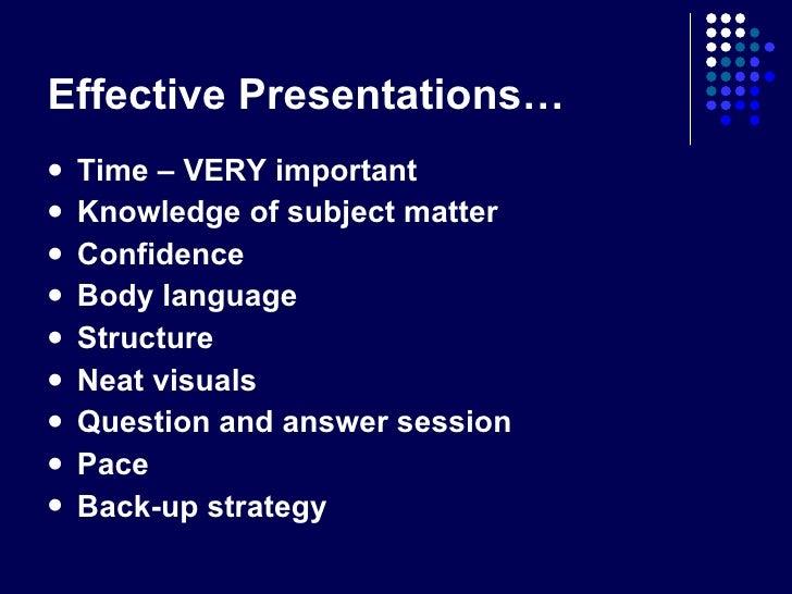 4 Effective Presentation Techniques