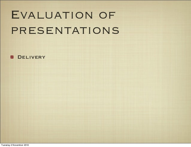 Evaluating Oral Presentations 36