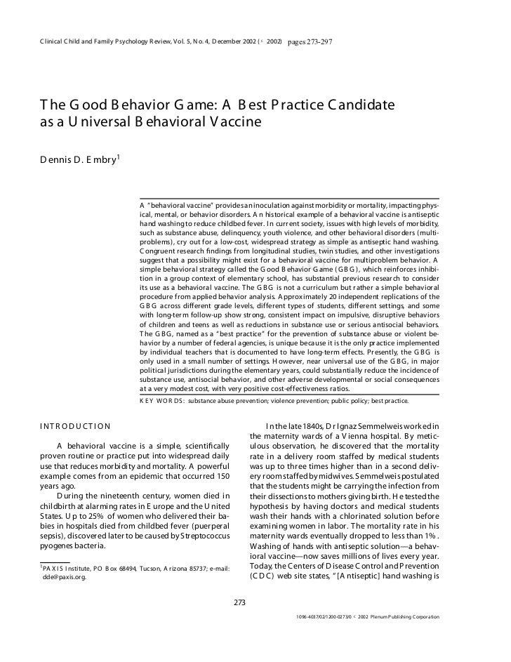 behavior essay good behavior essay