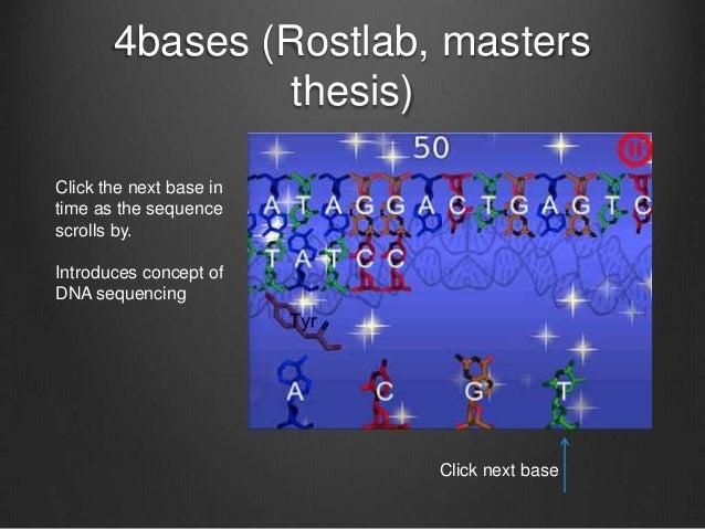 sbioinformatics design thesis