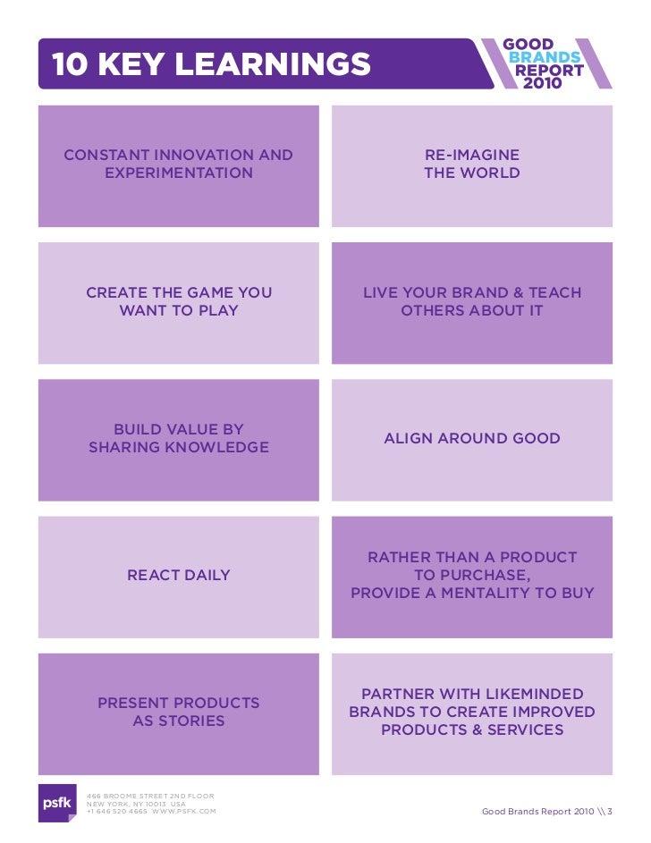Good Brands Report 2010 Slide 3