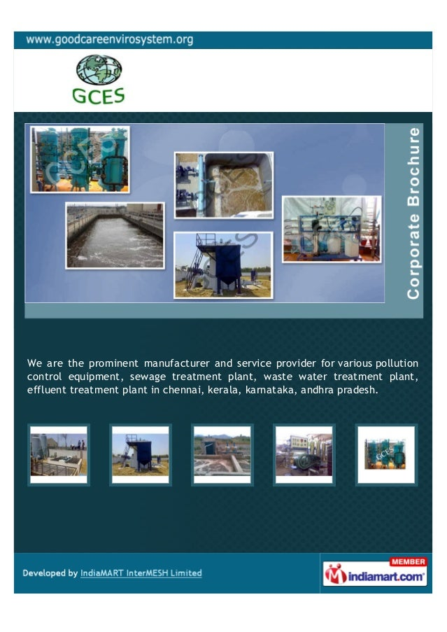 We are the prominent manufacturer and service provider for various pollutioncontrol equipment, sewage treatment plant, was...